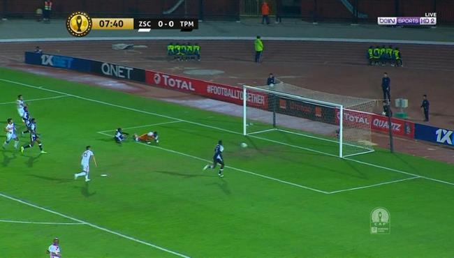 حارس مازيمبي ينقذ مرماه من هدف محقق لاوباما في دوري ابطال فريقيا