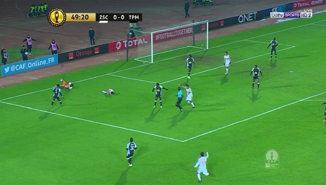 هل حرم الحكم الزمالك من ركلة جزاء امام مازيمبي في دوري ابطال افريقيا
