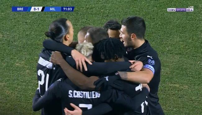 هدف فوز ميلان علي بريشيا (1-0) الدوري الايطالي