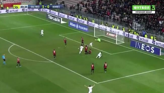 اهداف مباراة نيس ورين (1-1) الدوري الفرنسي
