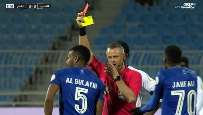 طرد علي البليهي في مباراة الهلال والشباب بالدوري السعودي