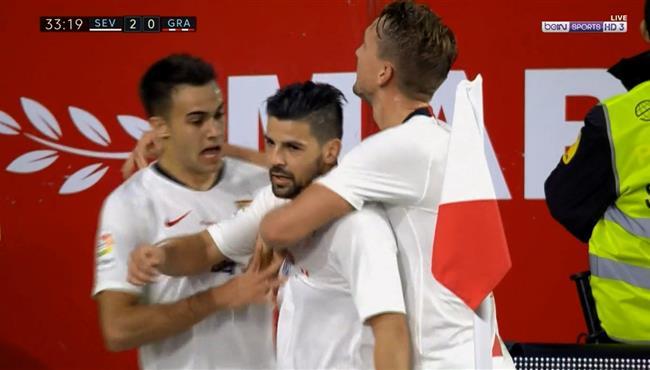 اهداف مباراة اشبيلية وغرناطة (2-0) الدوري الاسباني