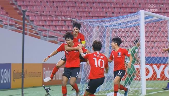 هدف كوريا الجنوبية الاول في مرمي السعودية بنهائي كاس اسيا تحت 23 سنة