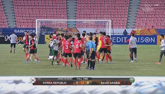 ملخص مباراة السعودية وكوريا الجنوبية (0-1) كاس اسيا تحت 23 سنة