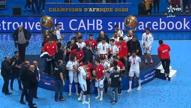 تتويج منتخب مصر بطلا لكأس أفريقيا لكرة اليد بعد الفوز على تونس