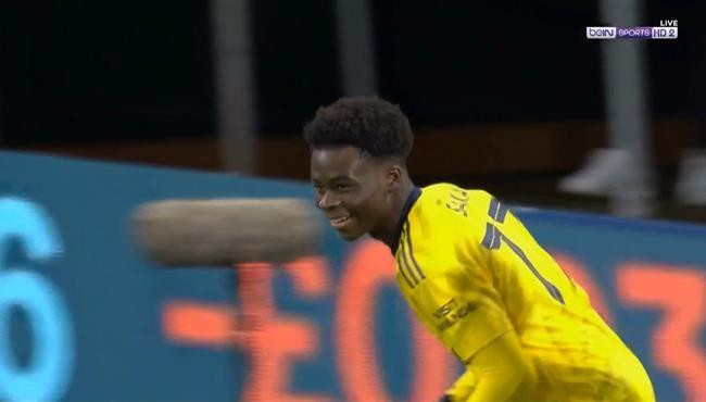 هدف ارسنال الاول في مرمي بورنموث (1-0) بوكايو ساكا