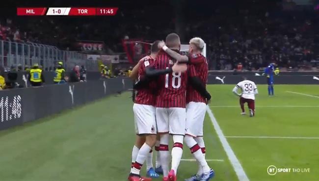 ملخص واهداف مباراة ميلان وتورينو (4-2) كأس ايطاليا