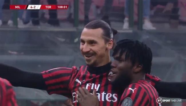 هدف ابراهيموفيتش في مرمي تورينو بكأس ايطاليا