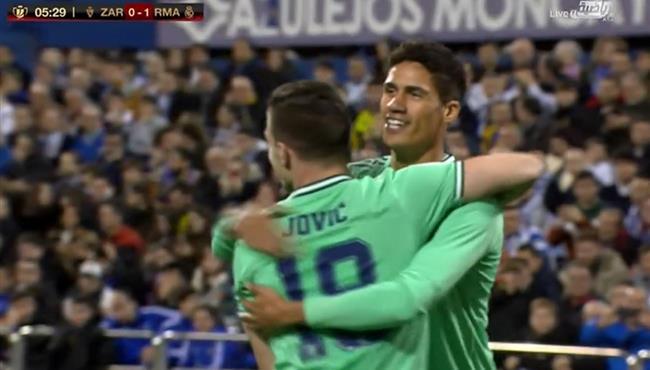 هدف ريال مدريد الاول في مرمي ريال سرقسطة تعليق فهد العتيبي