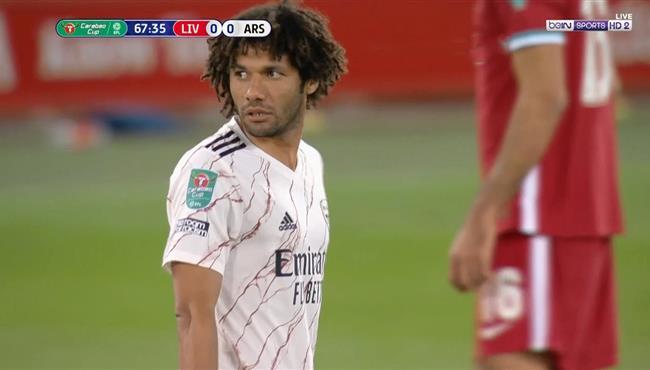 ملخص لمسات محمد النني في مباراة ارسنال وليفربول بكاس رابطة الاندية الانجليزية