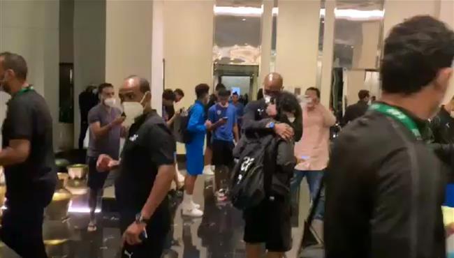 احتفالات لاعبي الزمالك في الفندق بعد الفوز على الرجاء بدوري ابطال افريقيا