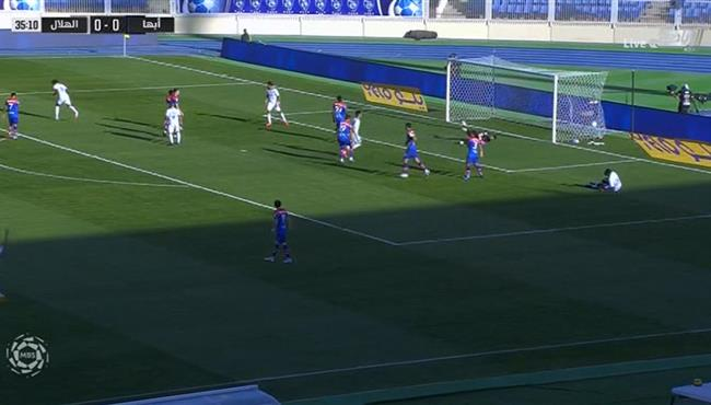 هدف الهلال الاول فى مرمي ابها (1-0) الدوري السعودي