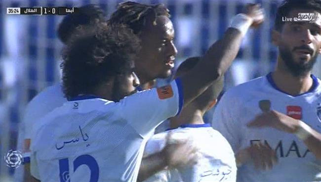 اهداف مباراة الهلال وابها (1-1) الدوري السعودي