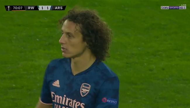 هدف تعادل ارسنال مع رابيد فيينا (1-1) ديفيد لويز