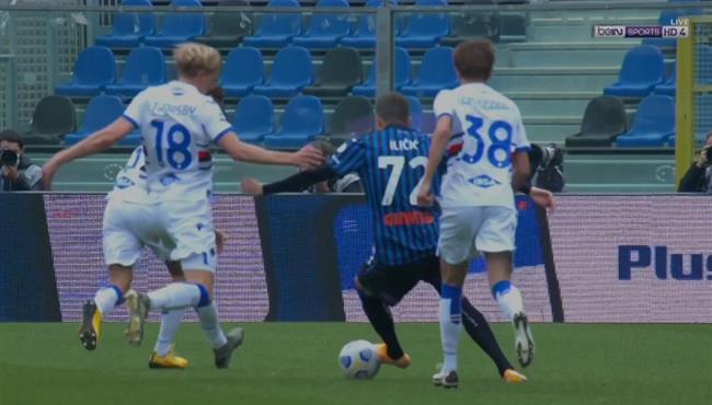 لقطة مهارية رائعة من ايليسيتش في مباراة اتالانتا وسامبدوريا