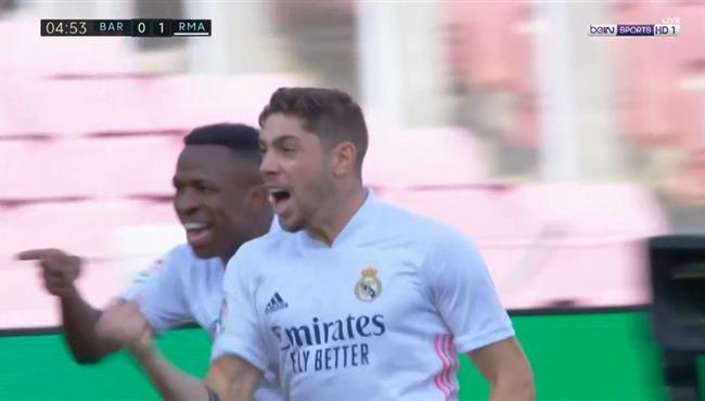 هدف ريال مدريد الاول الرائع في مرمي برشلونة .. فالفيردي