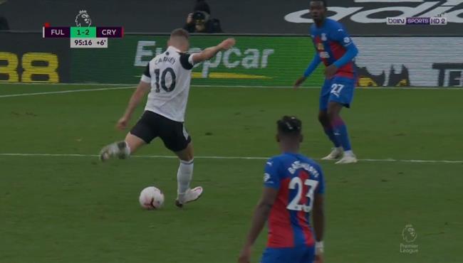 هدف صاروخي رائع في مباراة فولهام وكريستال بالاس بالدوري الانجليزي