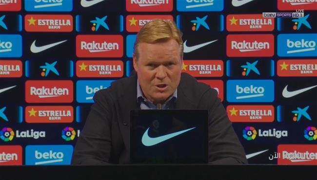 اول رد فعل من كومان بعد خساراة برشلونةامام ريال مدريد في الكلاسيكو
