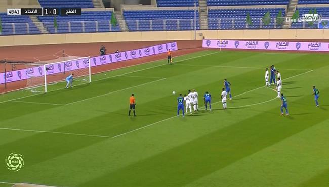 هدف تعادل الفتح مع الاتحاد (1-1) الدوري السعودي