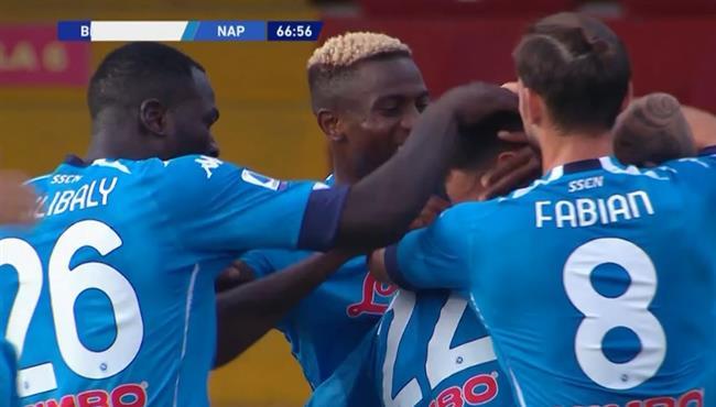 اهداف مباراة نابولي وبينفينتو (2-1) الدوري الايطالي
