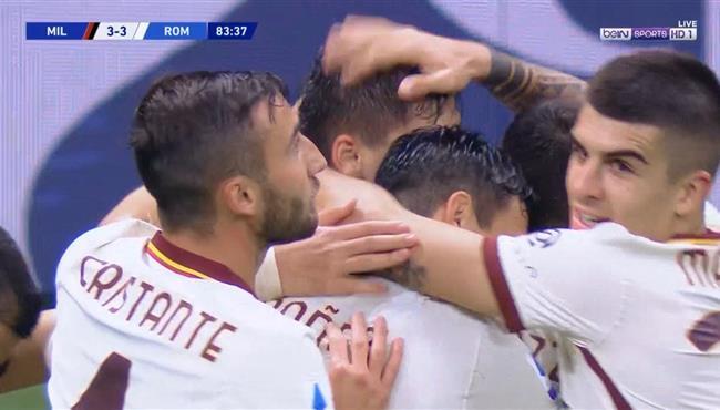 هدف روما الثالث فى مرمي ميلان (3-3) الدوري الايطالي