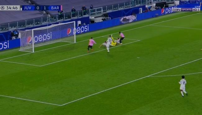 حارس يوفنتوس يحرم عثمان ديمبلي من تسجيل هدف رائع لبرشلونة