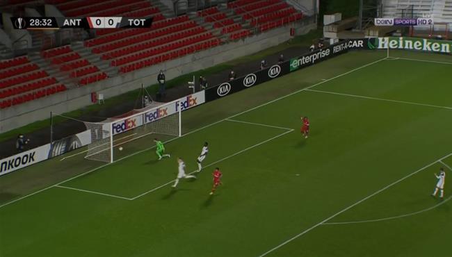 هدف فوز انتويرب علي توتنهام (1-0) الدوري الاوروبي
