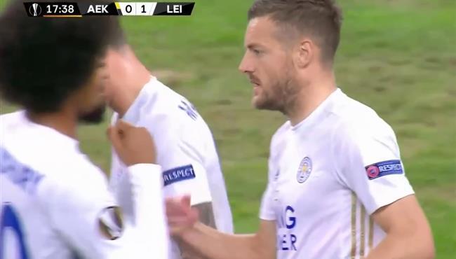 اهداف مباراة ليستر سيتي وايك اثينا (2-1) الدوري الاوروبي
