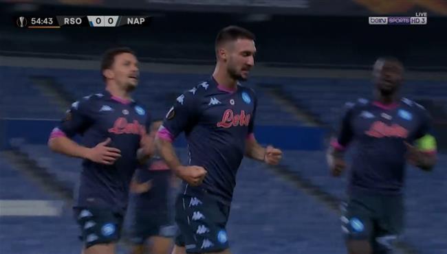 هدف فوز نابولي علي ريال سوسيداد (1-0) الدوري الاوروبي