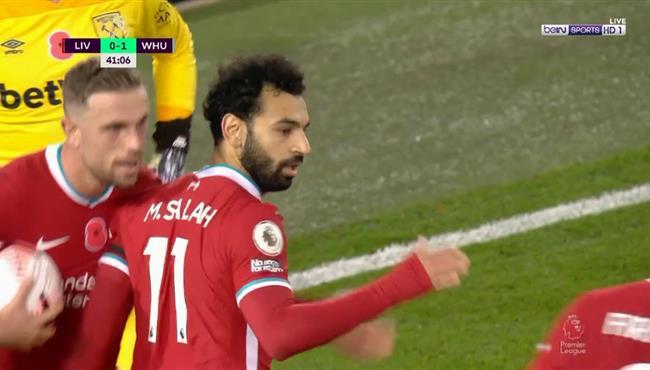 هدف محمد صلاح في مرمي وست هام بالدوري الانجليزي