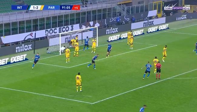 اهداف مباراة انتر ميلان وبارما (2-2) الدوري الايطالي