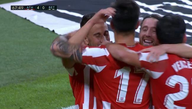 اهداف مباراة اتلتيك بلباو وريال بيتيس (4-0) الدوري الاسباني