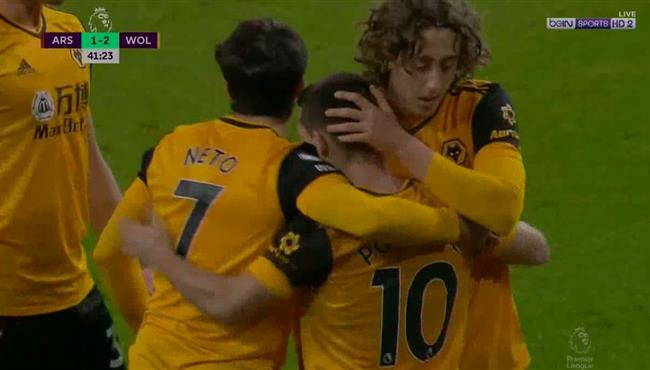 هدف ولفرهامبتون الثاني فى مرمي ارسنال (2-1) الدوري الانجليزي