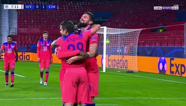 اهداف مباراة تشيلسي واشبيلية (4-0) دوري ابطال اوروبا