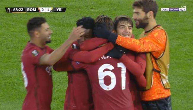 اهداف مباراة روما ويونج بويز (3-1) الدوري الاوروبي