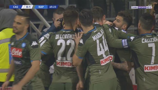 هدف فوز نابولي الرائع علي كالياري (1-0) الدوري الايطالي
