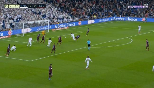 هل حرم الحكم ريال مدريد من ركله جزاء امام سيلتا فيجو