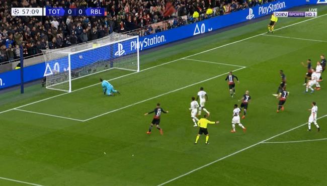 هدف فوز لايبزج علي توتنهام (1-0) دروي ابطال اوروبا