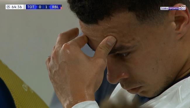 انفعال ديلي الي بعد تبديله في مباراة توتنهام ولايبزج