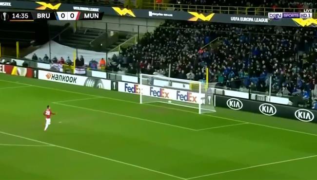 اهداف مباراة مانشستر يونايتد وكلوب بروج (1-1) الدوري الاوروبي