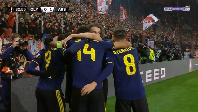 هدف فوز ارسنال علي اولمبياكوس (1-0) الدوري الاوروبي