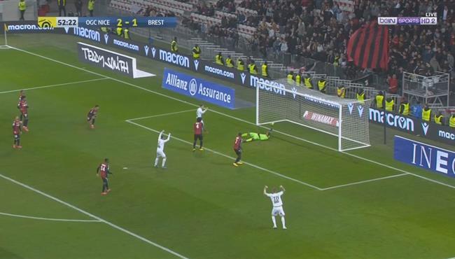 اهداف مباراة نيس وبريست (2-2) الدوري الفرنسي