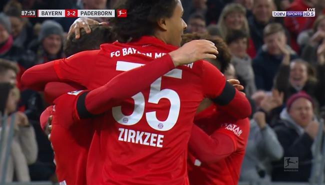 اهداف مباراة بايرن ميونخ وبادربورن (3-2) الدوري الالماني