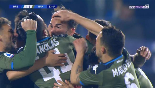 اهداف مباراة نابولي وبريشيا (2-1) الدوري الايطالي