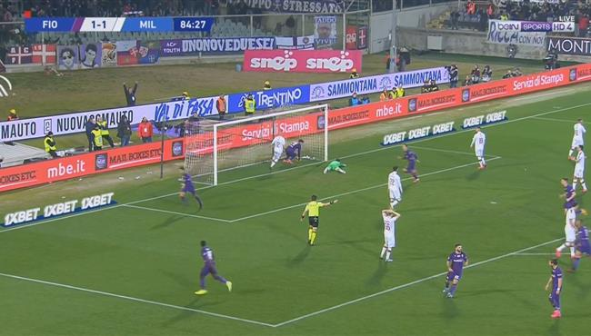 اهداف مباراة ميلان وفيورنتينا (1-1) الدوري الايطالي