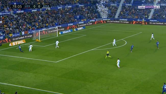 هدف ليفانتي الاول الرائع في مرمي ريال مدريد بالدوري الاسباني