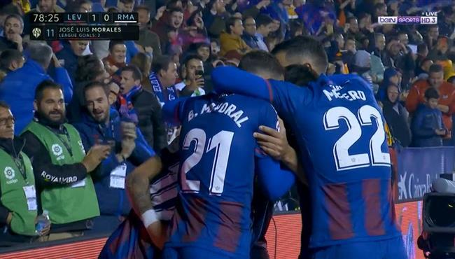 هدف فوز ليفانتي علي ريال مدريد (1-0) الدوري الاسباني