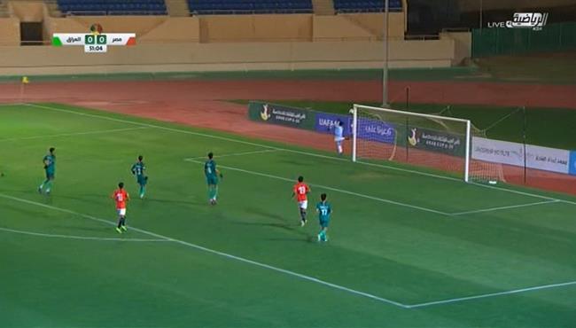 تصدي حارس العراق الرائع يحرم لاعب مصر من تسجيل هدف عالمي في كأس العرب تحت 20 سنة