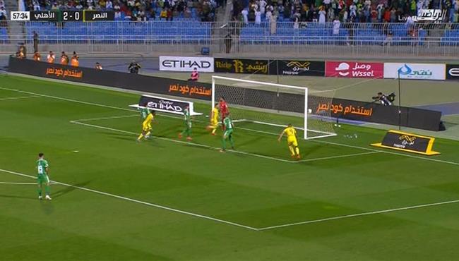 هدف النصر الاول فى مرمي الاهلي (1-2) الدوري السعودي