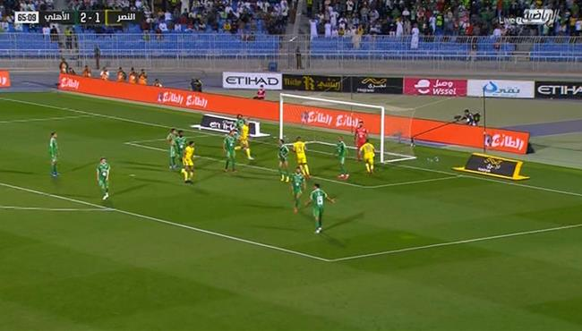هدف النصر الثاني فى مرمي الاهلي (2-2) الدوري السعودي